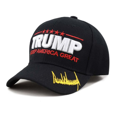 Wholesale Embroidered Adjustable Velcro Strap New Fashion Trump Ear Hat