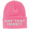 100% Acrylic Knitted Custom Beanie Hat with Designed Embroidered Logo