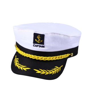 Sedex Audit 100% Cotton Embroidered Captain Officer Navy Cap for Costume