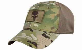 100% Cotton Camouflage 6-Panel Patch Fitted Baseball Cap Tactical