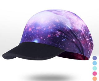 Custom Fashion Polyester Print Sublimation Cycling Cap with Soft Curved Brim