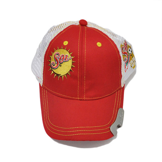 100% Cotton Mesh Bottle Opener Baseball Cap with Embroidery Logo